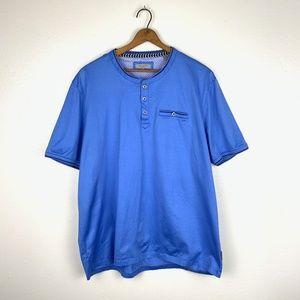 Ted Baker Blue Grandad Collar Dress Shirt